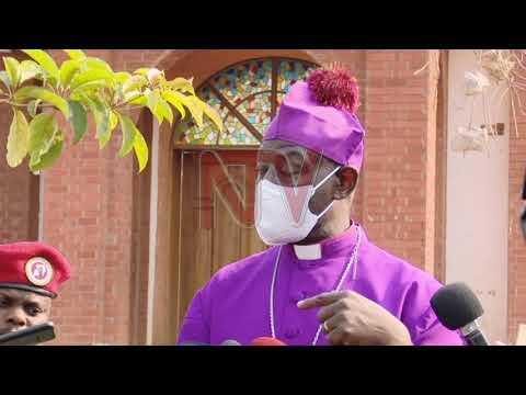 Archbishop Kaziimba visits scene of demolition
