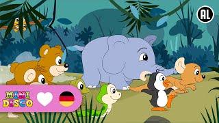 Kinderlieder | DIE TIERE AUS DEM GROßEN ZOO | Cartoon | Mini Disco