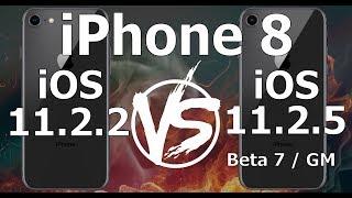 iPhone 8 : iOS 11.2.2 vs iOS 11.2.5 Beta 7 / GM Build 15D60