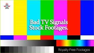 Glitch effect videos | Bad TV Signals | VHS Glitch Effect | VCR TV Static GLITCH effect | #glitch