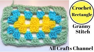 How To Crochet A Granny Rectangle