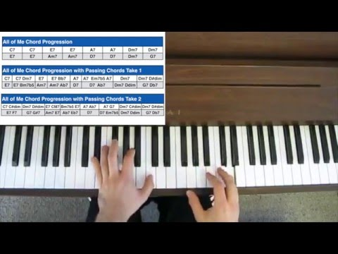 Jazz Piano Tutorial - Passing Chords and Approach Chords