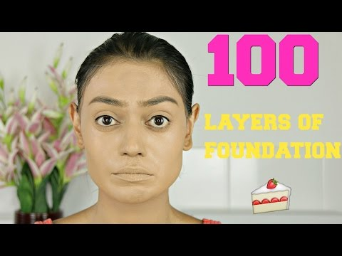 100 layers of foundation | CAKE FACE | Sabrina Anijs