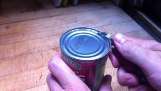 How to use an old-school can-opener.