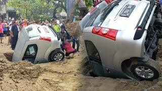 Hendak Parkir, Minibus Malah Nyemplung ke Lubang Resapan Air di Jakarta, Pengemudi Seorang Insinyur