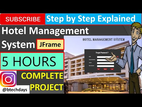Hotel Management System in java (JFrame, Netbeans, Mysql Database) Complete Project (step by step)