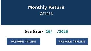 How to file nil GSTR 3B, GSTR 3B Live Filing for No sale No purchase cases Nil, GSTR 3B Live filing