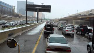 What a little snow does to Dallas.