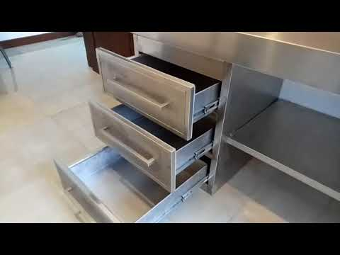 Master  modern  home  fabrication ,Fully  Stainless Steel Wet Kitchen
