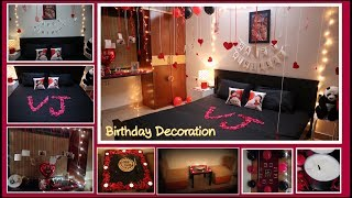 Birthday Decoration Ideas At Home |Surprise Decoration For Husband Romantic Room Decoration|