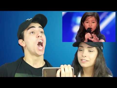 (CRIED!!) 9 YEAR OLD SINGER - REACTION (AMERICA'S GOT TALENT) (видео)