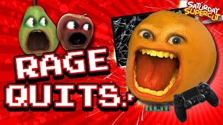 ALL The Annoying Orange RAGEQUITS!!! (Video Games)