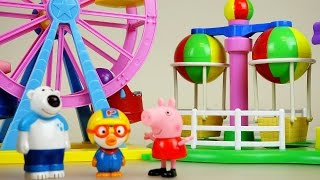 Peppa Pig Amusement park and Pororo toys - Video Youtube