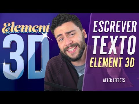 Criar texto no ELEMENT 3D | Tutorial After Effects