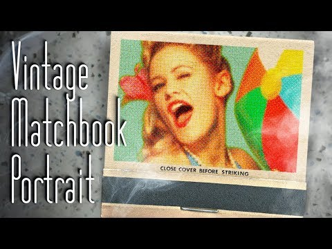 Photoshop Tutorial: How to Create a Classic, Vintage, Matchbook Cover