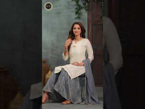 Designer Cotton Sharara Suit