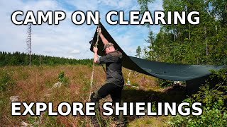 Camping On Clear Cut, Find Abandoned House And Investigate Eighteenth Century Shielings