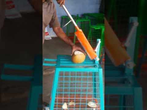 Orange Tender Coconut Cutting Machine