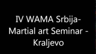 IV WAMA Seminar - Kraljevo 2014