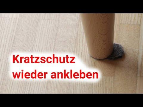 Kratzschutz / Filzgleiter wieder ankleben