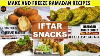 Make and Freeze Ramadan Recipes | Quick & Easy Iftar Recipes Preparation | Iftar Snacks|MirchKaMazah