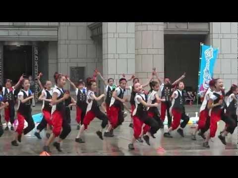 横浜市立六つ川小学校/横浜美術館前/ハマこい踊り炎舞2012
