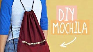 DIY - COMO HACER UNA MOCHILA SUPER FÁCIL | Danielalala