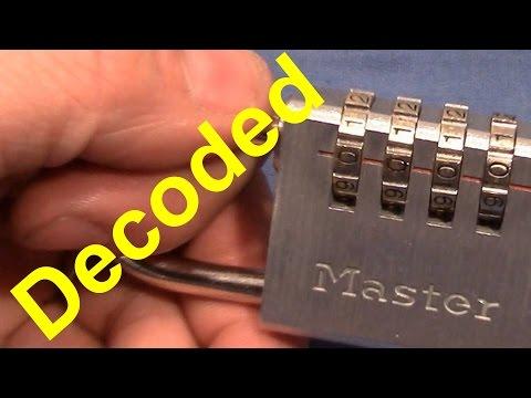 (picking 206) Master 4-wheel combination padlock opened - fuzzy decoding method - thanks to Ulrik