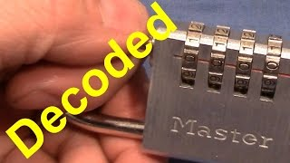 (picking 206) Master 4-wheel combination padlock opened - fuzzy decoding method - thanks to Ulrik