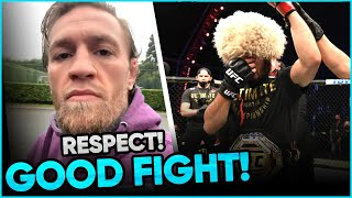 Conor McGregor sends a message to Khabib after he announces his retirement, UFC fighters reactions