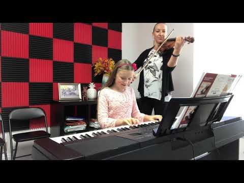 My student Sasha plays a violin and piano duet.