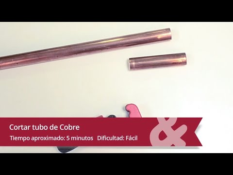 Como cortar tubería de cobre con un cortatubos