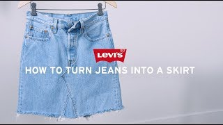 How To Make A Skirt From Jeans - DIY Denim Skirt | Levis®