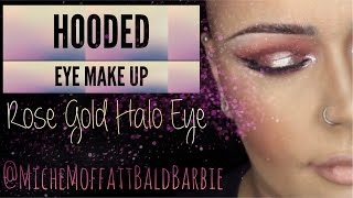 Hooded Eye Make Up | Double Lid Tape | Rose Gold Halo Eye | Quick Tutorial