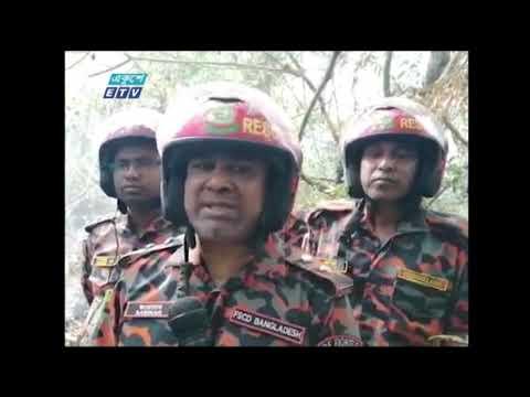 পূর্ব সুন্দরবন বিভাগের শরণখোলা রেঞ্জের দাসে ভারানি এলাকায় এখনও আগুন জ্বলছে