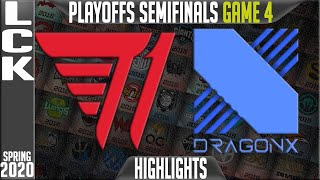 T1 vs DRX Highlights Game 4 | LCK Spring 2020 Playoffs Semi-finals | T1 vs DragonX G4