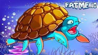 СЪЕШЬ МЕНЯ #5 Открыл ЧЕРЕПАХУ! Рыбная андроид игра для детей EATME.IO похожая на СЛИЗАРИО