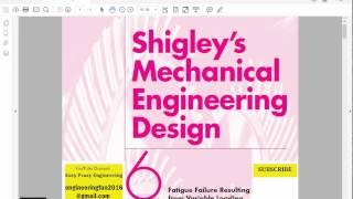 Mechanical Engineering Design, Shigley, Fatigue, Chapter 6