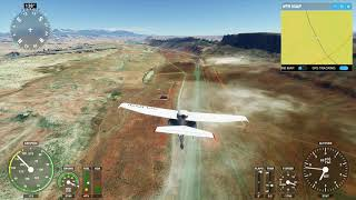 Flying from Canyonlands past Arches National Park in Microsoft Flight Simulator 2020