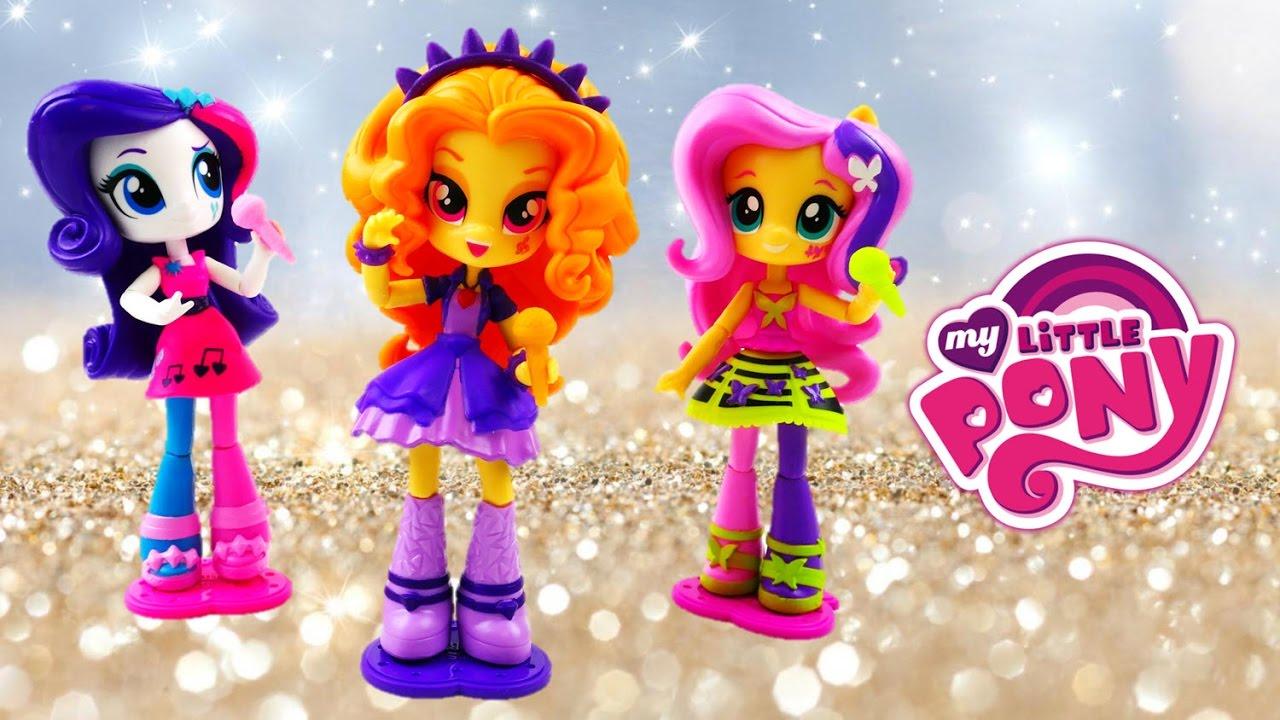 NEW Adagio Dazzle Fluttershy Rarity Rocking Rainbow Rocks Equestria Girls Minis   Evies Toy House