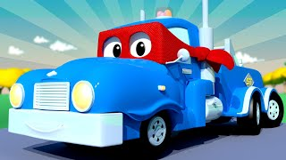 The SUPER TOW TRUCK  - Carl the Super Truck - Car City ! Cars and Trucks Cartoon for kids