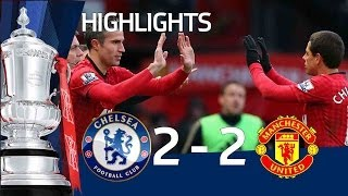 Manchester United Vs Chelsea 22 Official Goals And Highlights FA Cup Sixth Round  FATV