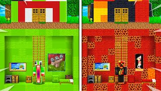 Preston vs Unspeakable SECRET House Battle! - Minecraft