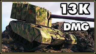 13,4K Damage Without Taking Damage - FV4005 Stage II - World of Tanks Gameplay