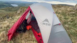 Wild Camp Place Fell - MSR Elixir 1 Tent Review