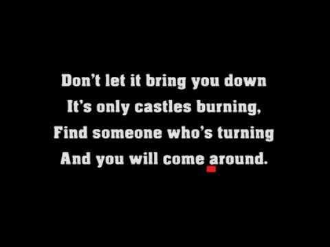 Karaoke -  Don't let it bring you down -  Annie Lennox