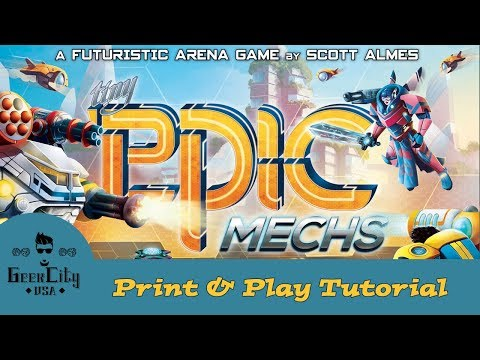 Geek City USA - Tiny Epic Mechs PNP Tutorial