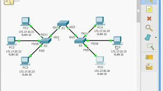 6.2.1.7 Packet Tracer - Configuring VLANs