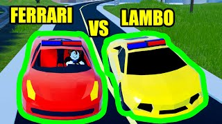 Can the NEW FERRARI BEAT the LAMBO??? | Roblox Jailbreak