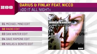Darius & Finlay feat. Nicco - Do It All Night (Radio Edit)